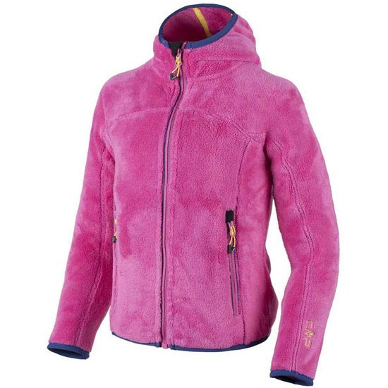 Campagnolo Highloof Fix Hood Jacket Girls - Pink