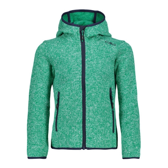 Campagnolo Fleece Fix Hood Girl - Emerald/Bianco