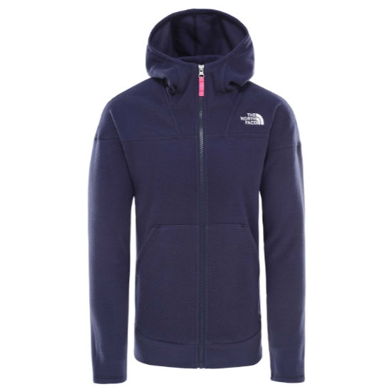 The North Face Glacier Full Zip Hoodie Girl - Montague Blue