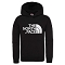The North Face Drew Peak PO Hoodie Jr - Black/Black