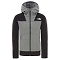 The North Face Glacier Full Zip Hoodie Girl - Medium Grey Heath