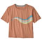 Patagonia Psychedelic Slider Organic Easy-Cut Tee W - Toasted Peach