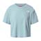 The North Face Cropped Simple Dome Tee W - Tourmaline Blue